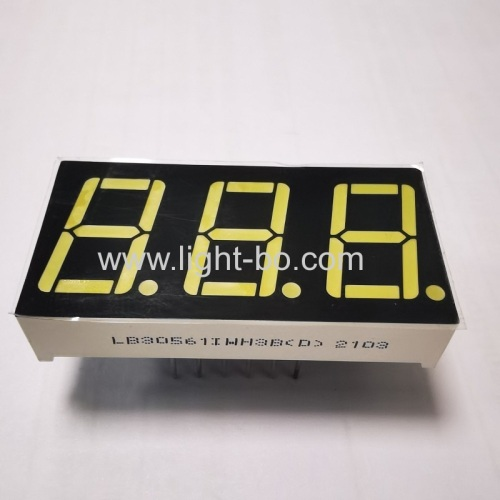 Ultra White Triple digit 7 segment led display common anode 0.56-inch for heating and cooling