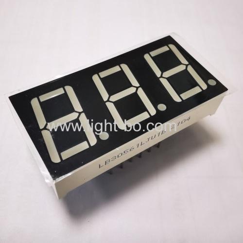 Super green 3 digit 0.56 7 segment led display common cathode for instrument panel indicator