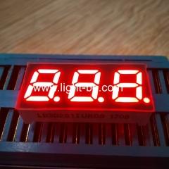сверхяркий красный 3-значный 7-сегментный светодиодный дисплей с общим анодом 0,28 дюйма для приборной панели