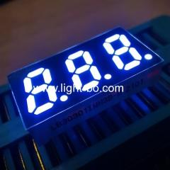 сверхяркий белый 0,3-дюймовый общий анодный 3-значный 7-сегментный светодиодный дисплей для приборной панели