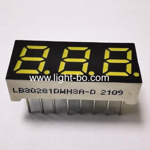 Ultra White 0.28inch Triple Digit 7 Segment LED Display Common cathode for coffee machine