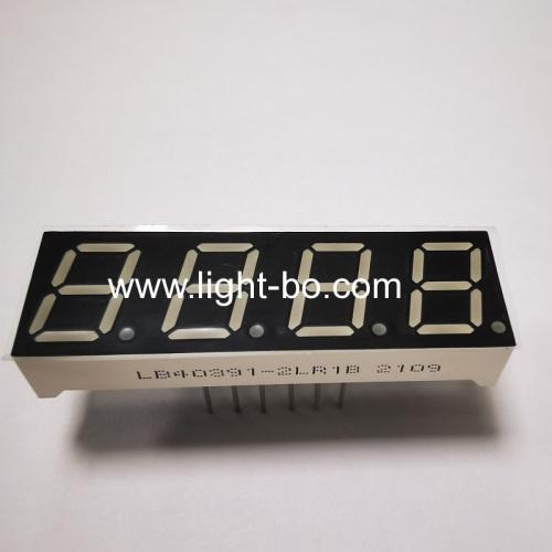 Super bright red 0.39 4 digit 7segment led display common cathode for temperature controller