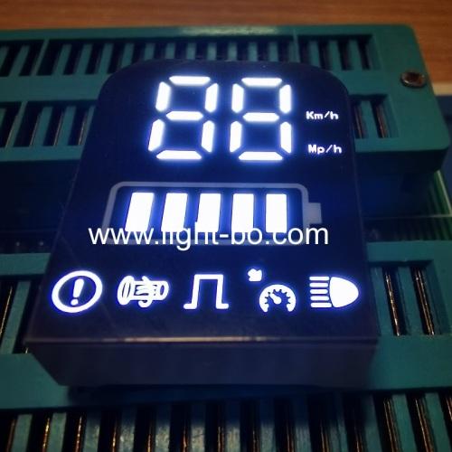 ультра белый 7 сегментный светодиодный дисплей общий анод для панели электромотоцикла