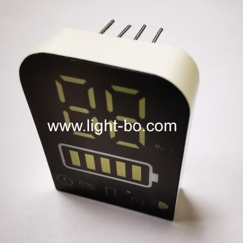 Ultra white 7 Segment LED Display common anode for Electric Motorcycle Vehicle Panel