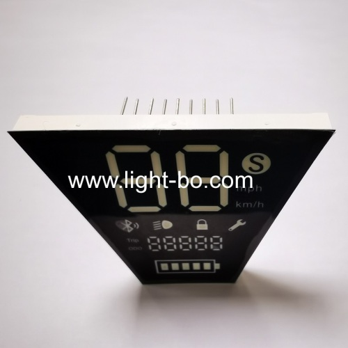Customized White/Red/Yellow 7 Segment LED Display Module for Electric Motorcycle Vehicle