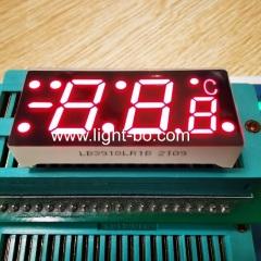 супер красный общий катод трехзначный 7-сегментный светодиодный дисплей со знаком минус для регулятора температуры