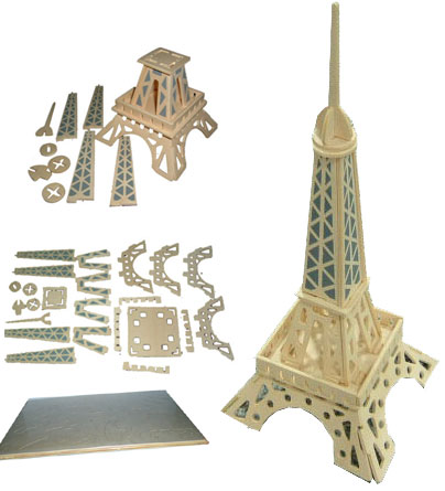 Wooden Eiffel Tower Puzzles (A-1017)