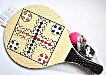 Wooden Beach Rackets With Chess