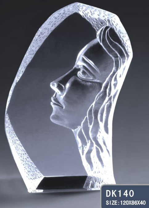Crystal women's figurine