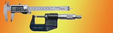 Digital measuring  tools in set