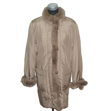 Fur Silk Padding Overcoats