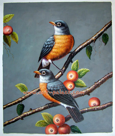 oil painting-bird