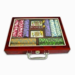 500pcs Poker Chip Set In Wooden Box