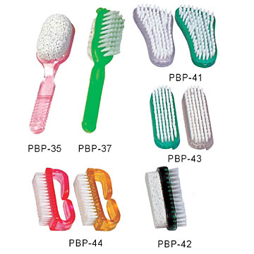 Plastic Brushes with Pumice
