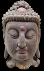 Exquisite Old Wood Buddha Head(wdc128)