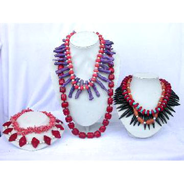 Coral Pearl Necklace Sets