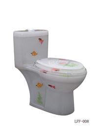 Transparent Resin Toilet