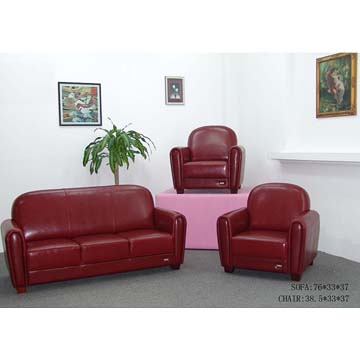 Excellent imported leather sofa