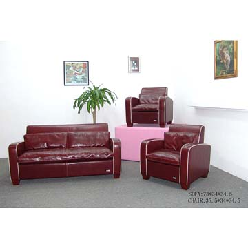 Backrest leather sofa