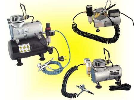 6. airbrush mini compressor kit for tattoo / tanning / make-up