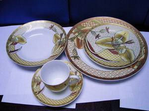 20 pcs ceramic & porcelain dinner set