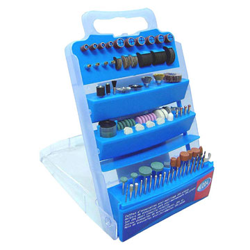 204 Piece Rotary Tools Accessory Set In Plastic Boxes