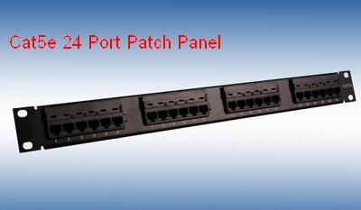 cat5e 24 port  patch panel
