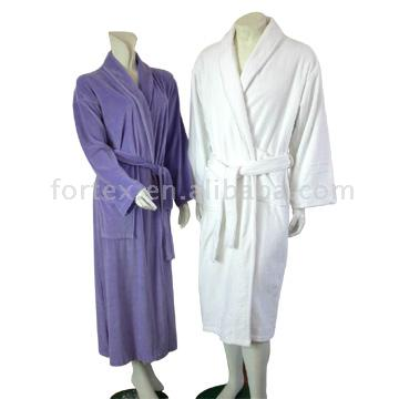 Velour Terry Bath Robe