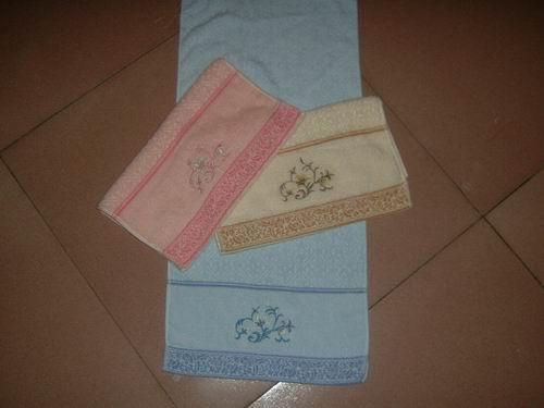 velour jacquard face towels