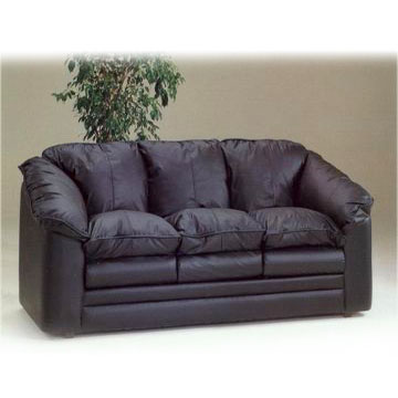 Black Italian Leather Sofa From China