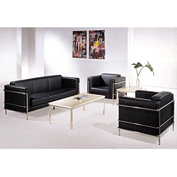 Cowhide office sofa