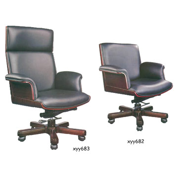 Cowhide executive chair