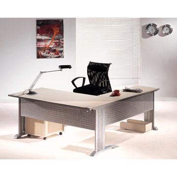 Metal frame office desk