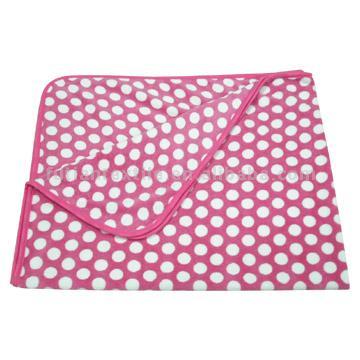 Printed Coral Velvet Blankets