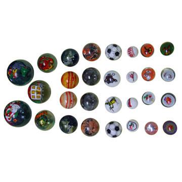 Printed Marbles, Printed Glass Marbles