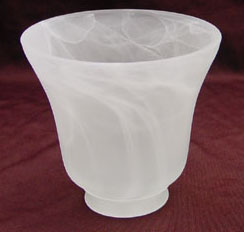 Centrifugal Glass Lampshade-Alabaster
