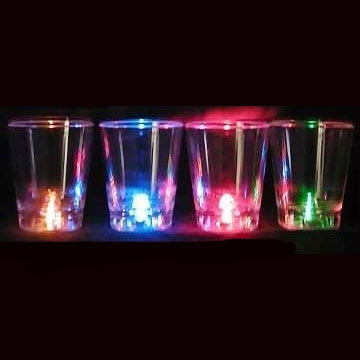 LED Flashing Shot Glass Cup