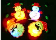 CHRISTMAS SANTA SNOWMAN FLAHSING PIN