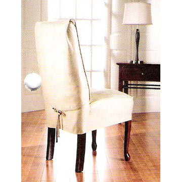 Suede Skirted Chair Covers
