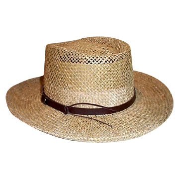 Sea grass gambler hat