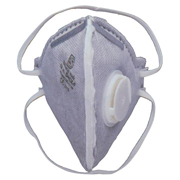 Valved Active Carbon Folding Respirators