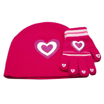 Girls' Two-Piece Hat and Glove Sets