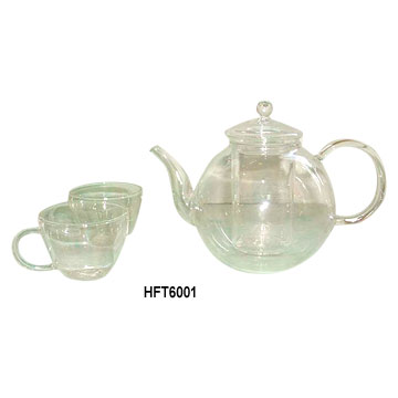 Glass Tea Pot & Tea Cups