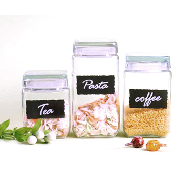 Glass Storage Jar 3 Pcs