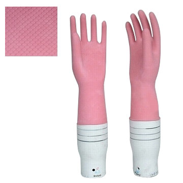 Flocklined Household Gloves (Pink)