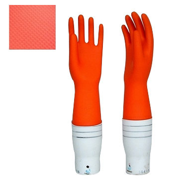 Flocklined Household Gloves (Red)