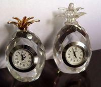 crystal pineapple clock sets