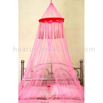 Circle Bed Canopy with Decorative beads
