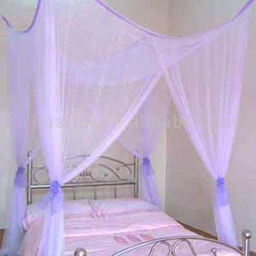 Square Bed Canopy with Rose