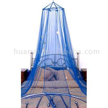 Circle Bed Canopy with Glow Stars